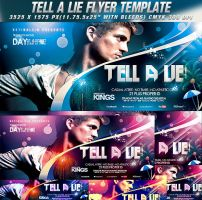 PSD Tell A Lie Flyer Template by retinathemes
