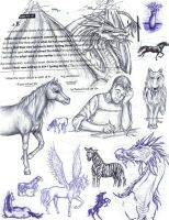 TheSchoolNotebookSketchCollage by DragonSpark