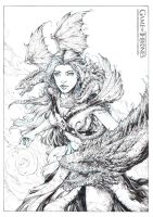 Mother of Dragons - Pencils by ManuelMorgadoArt