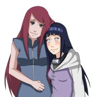 Kushina and Hinata by Chloeeh