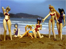 Love Hina Group Figures by Rasseru
