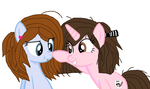 Mod and her Bff pony:I cant you are just so cute by cottoncloudyfilly