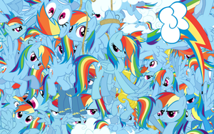Rainbow Dash explosion wallpaper with Cutie mark by Starlyk