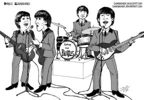 The beatles playing by shinobimerc