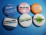 Dr. Horrible Pinback Buttons by vickinator