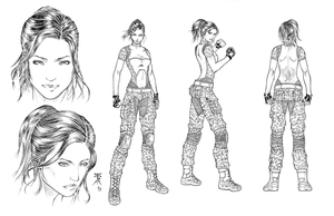Four Five Two Model Sheet by jhansard