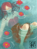 Ophelia's Suicide by PineappleCookie
