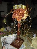 Personalized Candelabra made of Recycled Materials by ffdiaries958