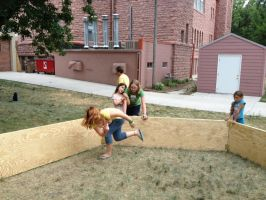 gaga ball action shot by deamon-the-wolf
