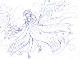 Elsa Sketch by Cindy-Brilliant