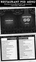 Stylish Restaurant Psd Menu Template by Hotpindesigns