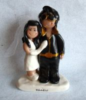 Elvis and Pricilla Impersonators Cake Topper by gingerbabies