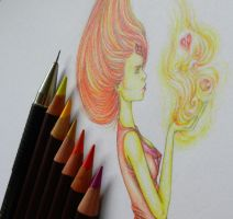 WIP: Flame Princess | Adventure Time by PennyMae