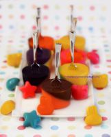 Lemon Jello Pops w/ Homemade Chocolate Bites by theresahelmer