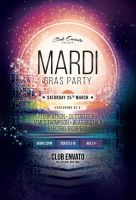 Mardi Gras Party Flyer by styleWish