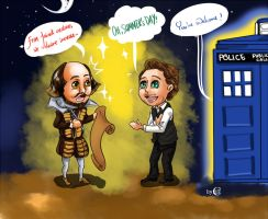 Tom Hiddleston and Shakespeare by iVulcan
