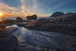 Lofoten Sunset by MD-Arts
