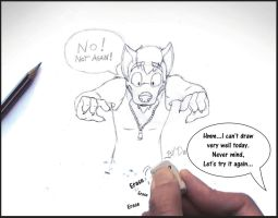 The fate of the bad sketch by danwolf15