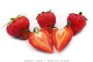 heart shaped strawberry by dkraner