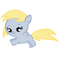Baby Derpy Flying by jrk08004