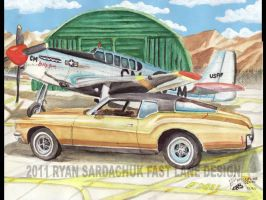 71 Buick Riviera At Airforce Base by FastLaneIllustration