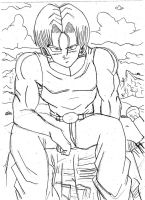 Trunks -NGT- Sketch by Krizeii