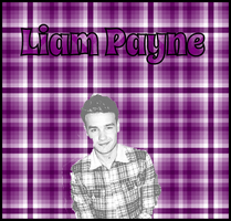 Liam Payne Purple Plaid by iluvlouis