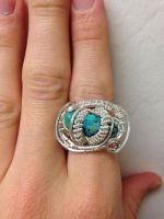 Triple turquoise ring  by noobwriter