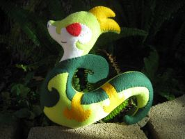 Serperior Plush Commission by P-isfor-Plushes