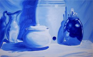 Still Life in Blue by Tomecko