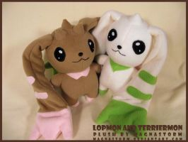 mini Lopmon and Terriermon by MagnaStorm