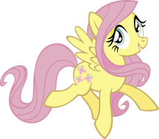 Yet Another Fluttershy Vector by kyleevee