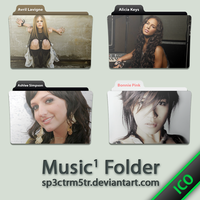 Music Folder 1 ICO by sp3ctrm5tr