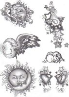 Tattoo Flash - girly by cynthiardematteo
