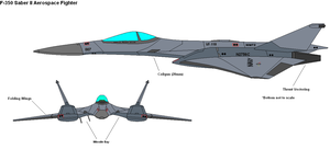 F-350 Saber Aerospace Fighter by PaintFan08