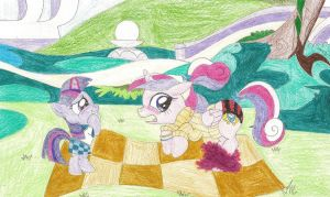 Request - Filly Twilight skirts Cadance by wjmmovieman