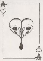 ACE OF HEARTZ CARD by Maszeattack