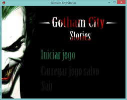 Gotham City Stories: EP #01 - Main Screen by RocketDesignRE