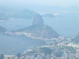 Sugar Loaf from Corcovado at Morning by TheDrifterWithin
