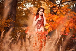 Lady of autumn by cherrilady
