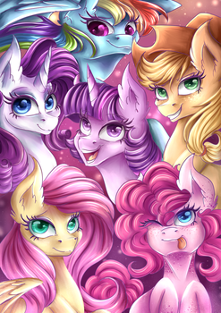 The Mane 6 2.0 by KarmaMoonshadow