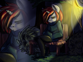 ... in the dark by mylittleRainbow-Time