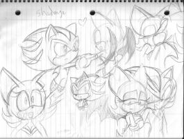 Shadouge sketches by SonicMiku