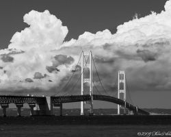 Mackinac Bridge B and W by PixelPerfectPhotog