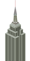 Pixel Empire State Building by rhysd