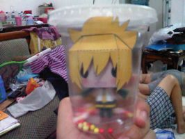 kagamine len papercraft by margarethere