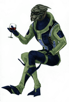 classy garrus being classy by kyuubifred