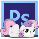 sweetie belle PhotoshopCS6 icon by illumnious