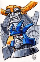 Galvatron and Unicron by Chad73
