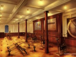 Gymnasium of Titanic by novtilus